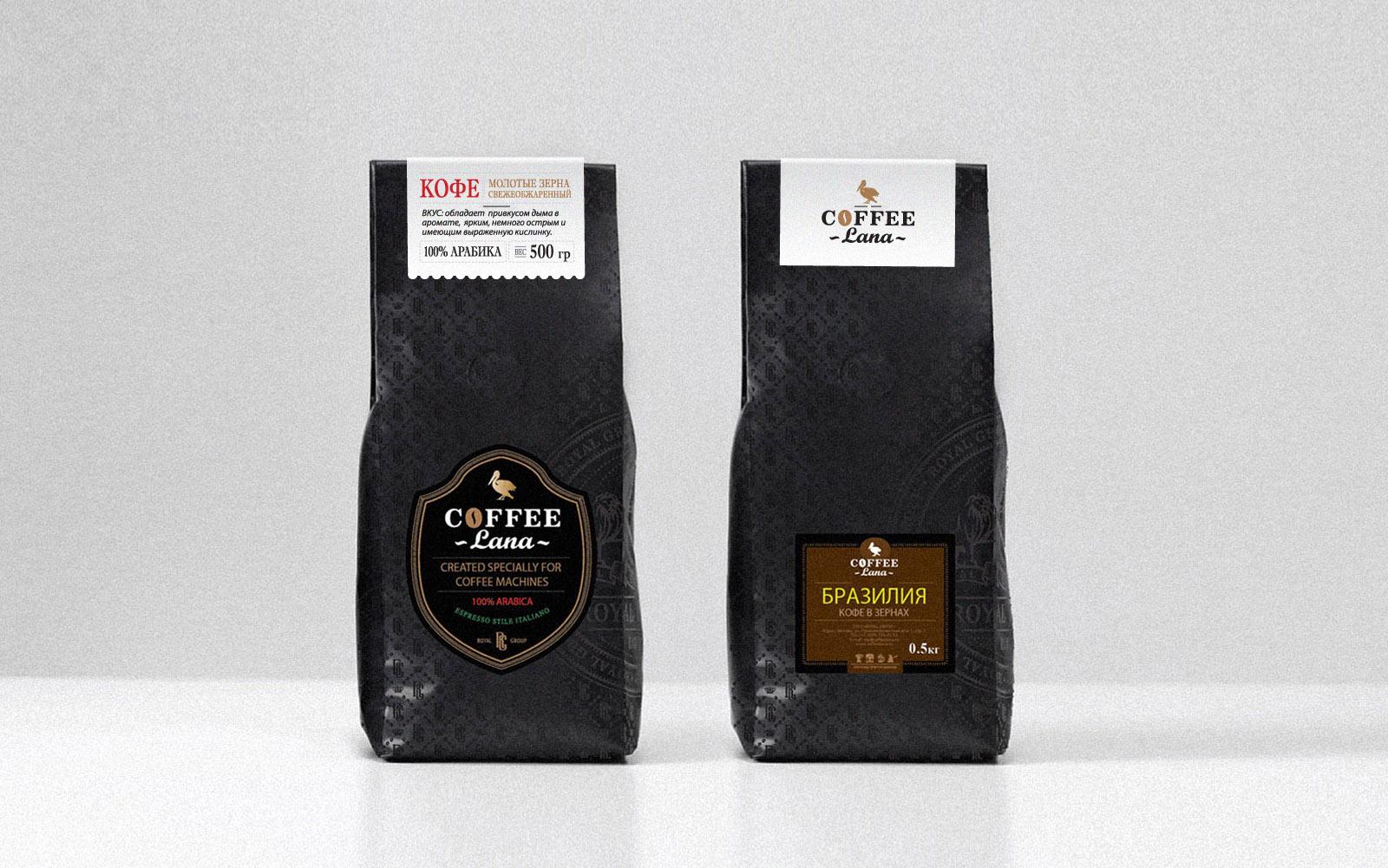 Разработка дизайна упаковки для кофе