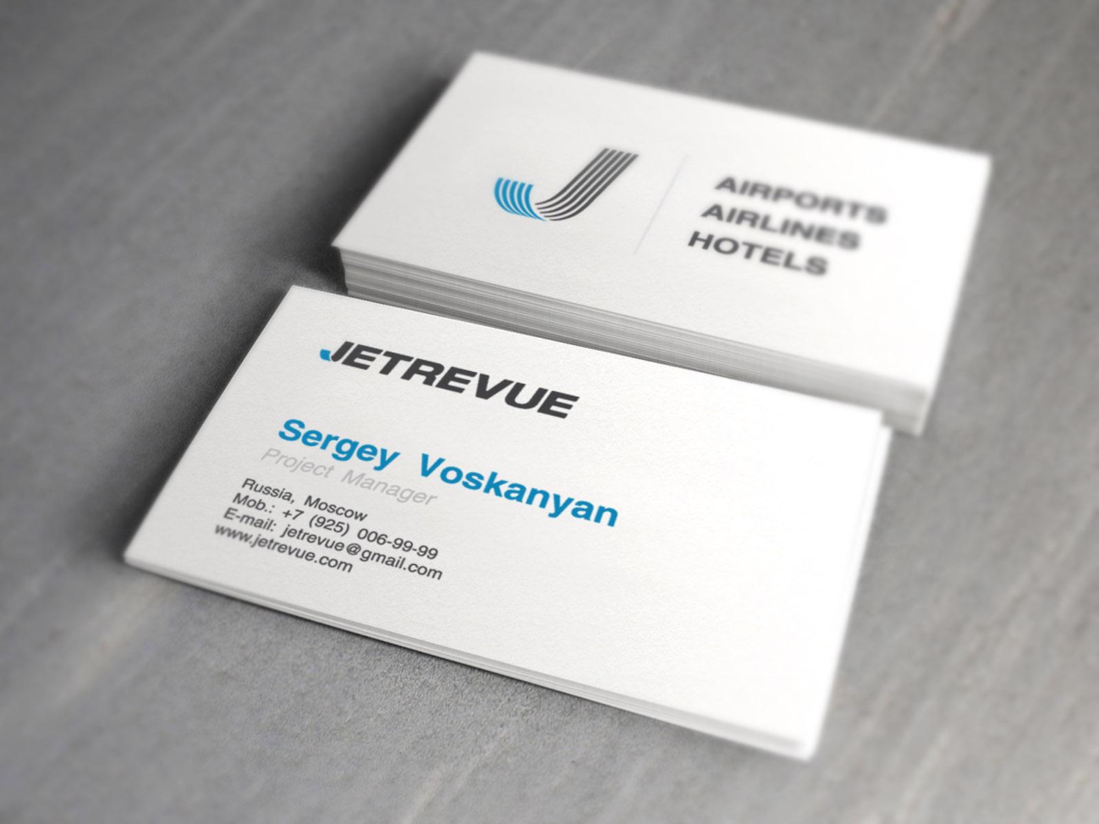 JetRevue Разработка дизайна логотипа, фирменный стиль, брендбук