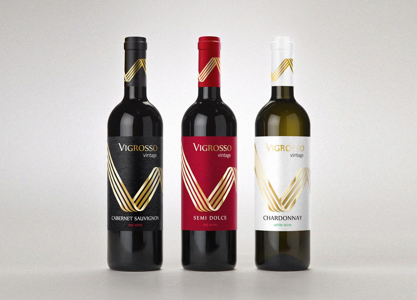 Vigrosso wine. Разработка дизайна и оформления этикетки вина
