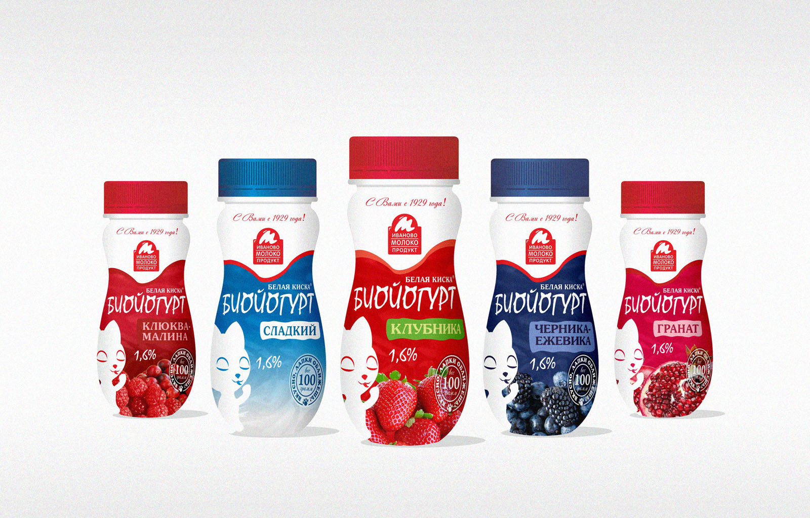 Ивмолоко. Разработка на заказ упаковки йогурт