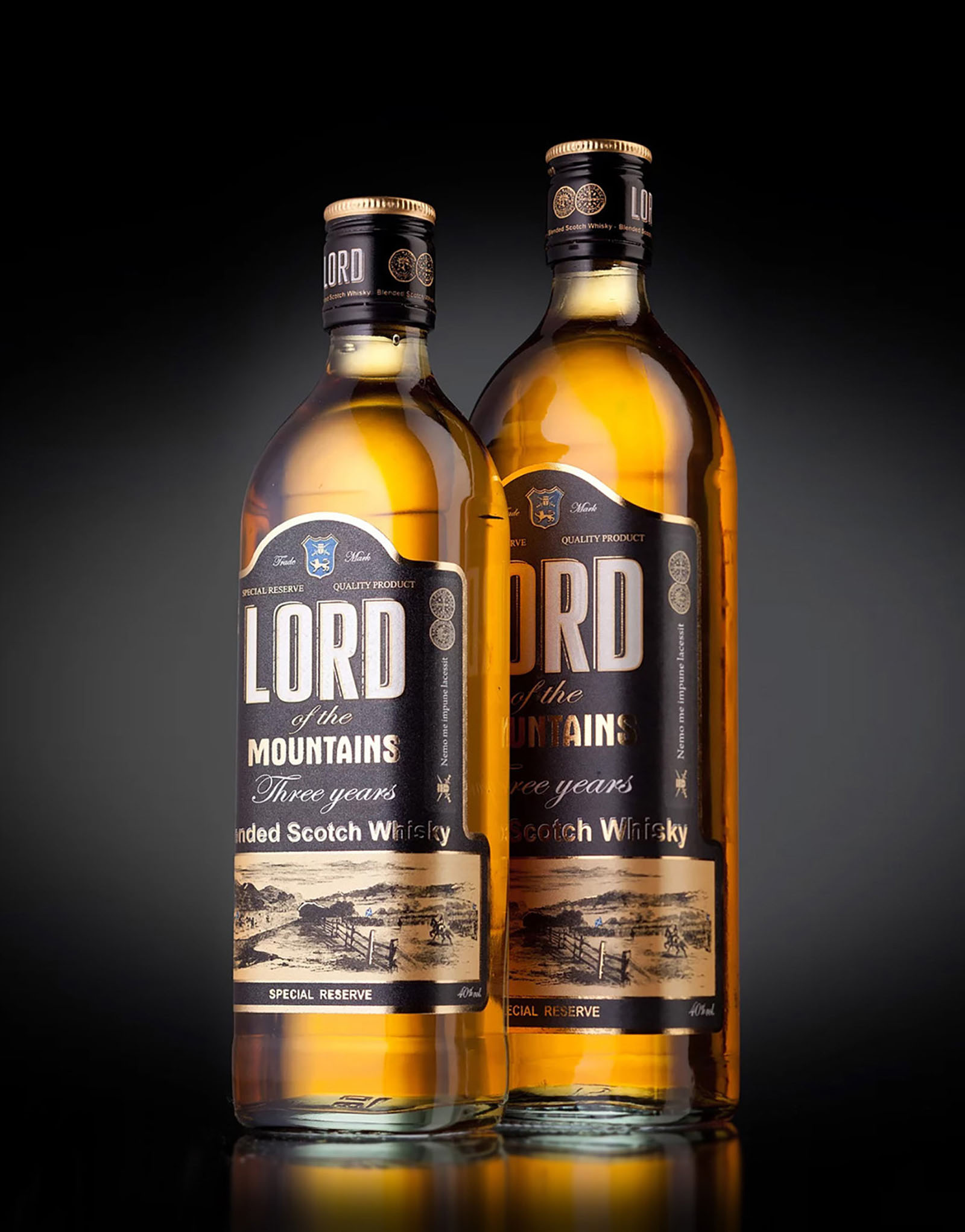 Lord whisky design label. Дизайн упаковки виски на заказ.