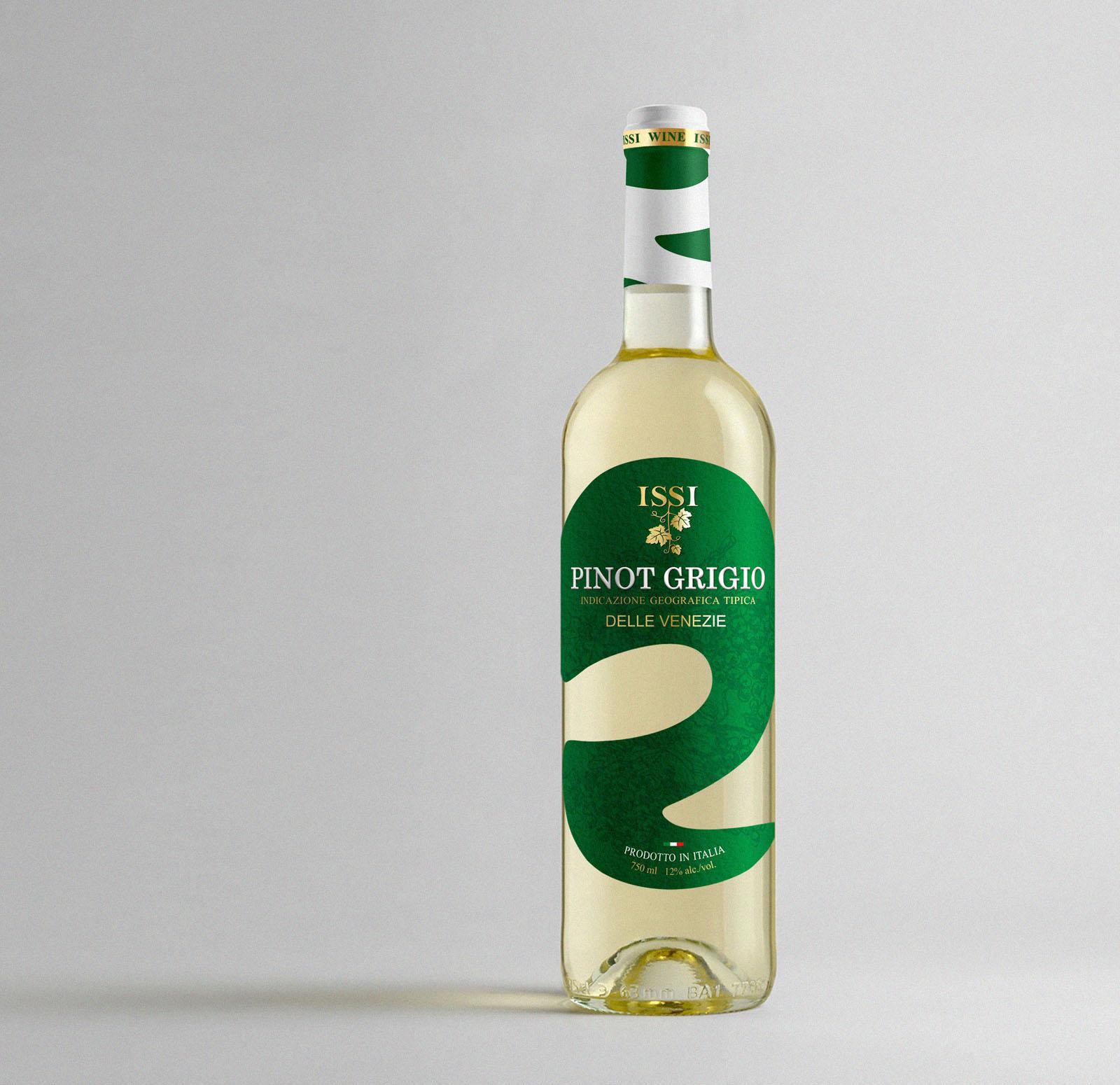 Pinot Grigio Коробки и этикетка для вина. Дизайн на заказ. Упаковка.