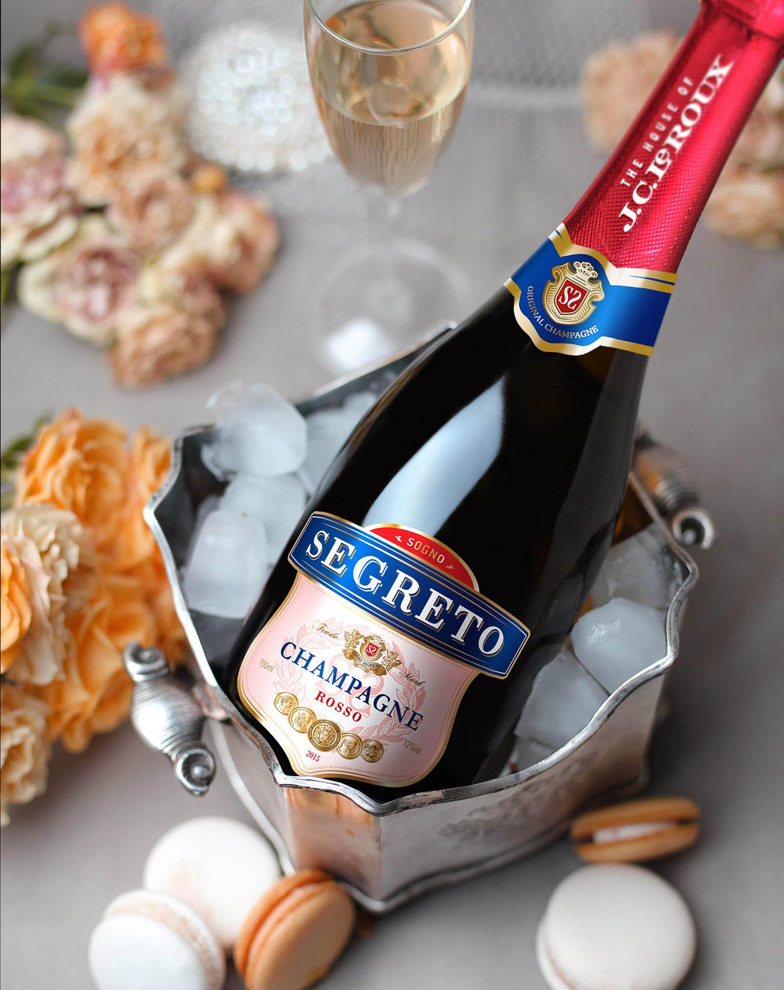Sogno шампанское разработка дизайна этикетки