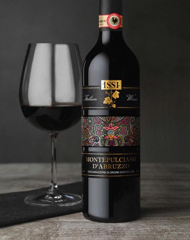 Дизайн этикетки итальянского вина montepulciano